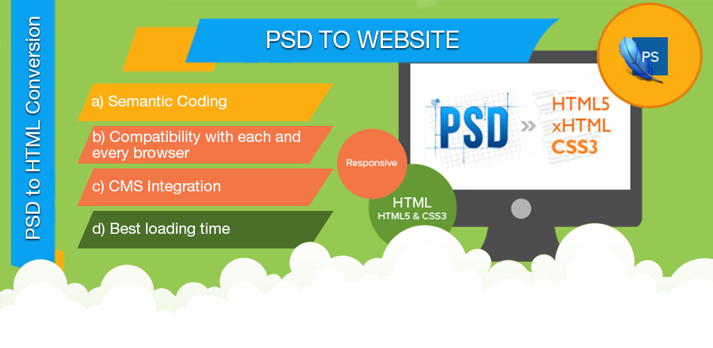 web design psd to website